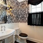 surprising-black-and-white-damask-bathroom-set-decorating-ideas-images-in-bathroom-traditional-design-ideas