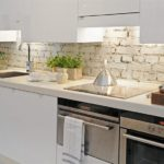 Old Brick White Kitchen Backsplash Ideas White Kitchen Cabinet