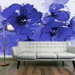 indigo-poppies-wall-mural-dark-orange-walls-800x600-0bf0007cdad5f96d